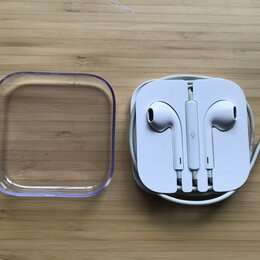 Наушники и Bluetooth-гарнитуры - Наушники Apple EarPods оригинал + коробка, 0