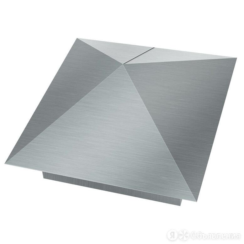 Колпак металлический 400х400мм оцинкованный заборный по цене 800₽ - Заборы, ворота и элементы, фото 0