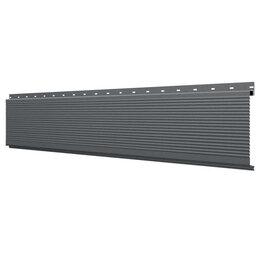 Стеновые панели - Линеарная потолочно-стеновая панель РИФЛЕНАЯ RAL7024 Серый Графит Стальной Б..., 0
