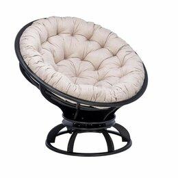 Кресла и стулья - Кресло венге Папасан с подушкой Tesla beige садовое, 0