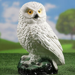 Статуэтки и фигурки - Садовая фигура сова белая полярная , 0