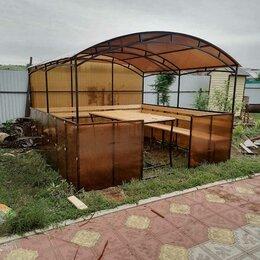 Комплекты садовой мебели - Беседка поликарбонат коричневый, 0