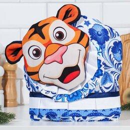 """Крышки и колпаки - Грелка на чайник """"Весёлый тигр"""", гежель 30х27 см, 0"""