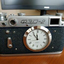 Часы настольные и каминные - Часы в корпусе ретро фотоаппарата ФЭД, 0