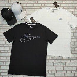 Футболки и майки - Футболка спортивная Nike черная, белая, 0