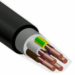 Кабели и провода - Кабель ВВГнг(А)-FRLS 4х2,5 ок(N, PE)-0,66 ГОСТ…, 0