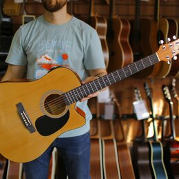 Акустические и классические гитары - Электроакустическая гитара Martinez faw 801 ceq, 0