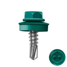 Шурупы и саморезы - Саморез кровельный DAXMER по металлу RAL6026 Опал 5,5*19мм, 0