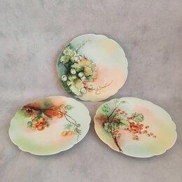 Посуда - Три тарелочки Limoges, Франция, 1895 - 1900 гг, 0