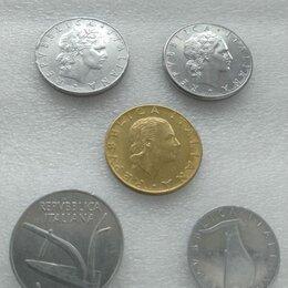 Монеты - Италия набор монет 5, 10, 50 и 200 лир, 0