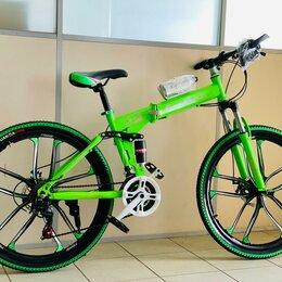 Велосипеды - Велосипед складной новый Green , 0