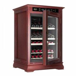 Винные шкафы - Cold vine c46-wn1 (classic) винный шкаф с деревянной отделкой , 0