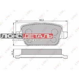 Краны для воды - LYNXAUTO BD3005 Колодки тормозные дисковые  зад  , 0