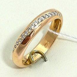 Кольца и перстни - кольцо / размер 17 / 3,51г / золото 585 / бриллианты, 0