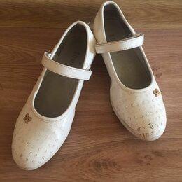 Балетки, туфли - Туфли белые, 0