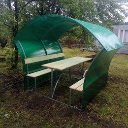 Комплекты садовой мебели - Беседка из зеленого поликарбоната , 0