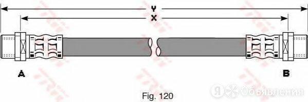 Шланг тормозной зад прав лев TRW PHA344 по цене 616₽ - Тормозная система , фото 0