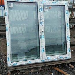 Окна - Окно, ПВХ Veka 82мм, 1550(В)х1670(Ш) мм, поворотно-откидное, двухстворчатое, 0