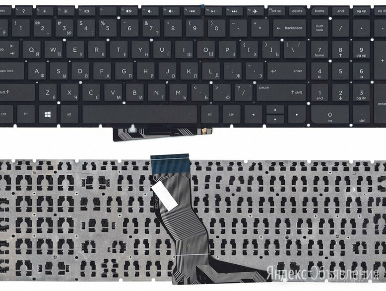 Клавиатура для HP Pavilion 15-AB031UR черная по цене 890₽ - Клавиатуры, фото 0