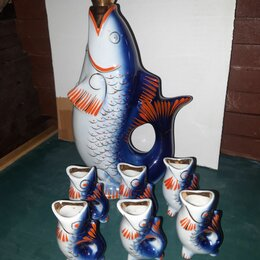 Этикетки, бутылки и пробки - Штоф ,рыбка,, 0
