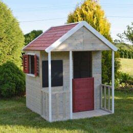 Игровые домики и палатки - Детский деревянный домик для дачи, 0