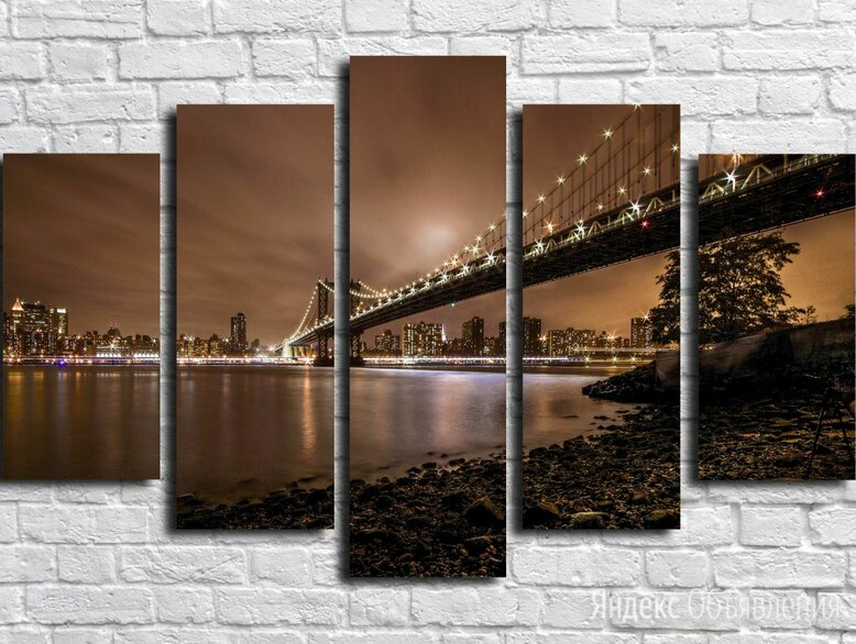 Модульная картина город 57 (Материал: Натуральный холст, Размер: 120х80 см.) по цене 2850₽ - Интерьерная подсветка, фото 0