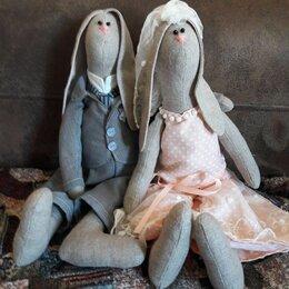 Свадебные украшения - Зайцы молодожены Морковкины, 0