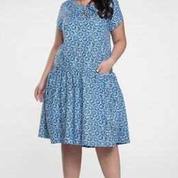Платья - Летние платья для полных женщин стильные р.56 58, 0