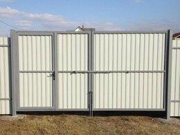 Заборы и ворота - Откатные ворота с калиткой внутри, 0