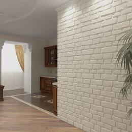 Стеновые панели - Стеновая 3д панель из гипса «Старый камень-большой», 0