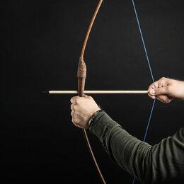 """Игрушечное оружие и бластеры - Сувенирное деревянное оружие """"Лук подростковый"""", 95 см, коричневый, массив ясеня, 0"""