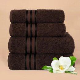 Полотенца - Набор из 4 полотенец Harmonika цвет: кофейный, 0