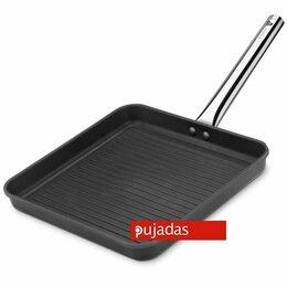 Сковороды и сотейники - Сковорода-гриль 28*28 см, h 4 см, литой алюминий с антипригарным покрытием, Puja, 0