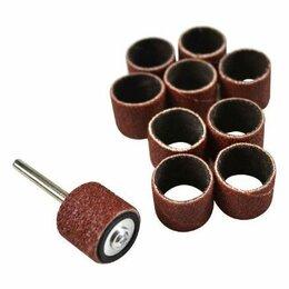 Для шлифовальных машин - Шлифовальный цилиндр STAYER с оправкой диаметр 18.7 мм Р 80/120 10шт. 29918-H10, 0