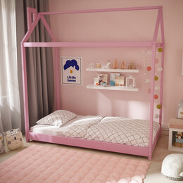 Кроватки - Детская кровать домик Монтессори эко, 0