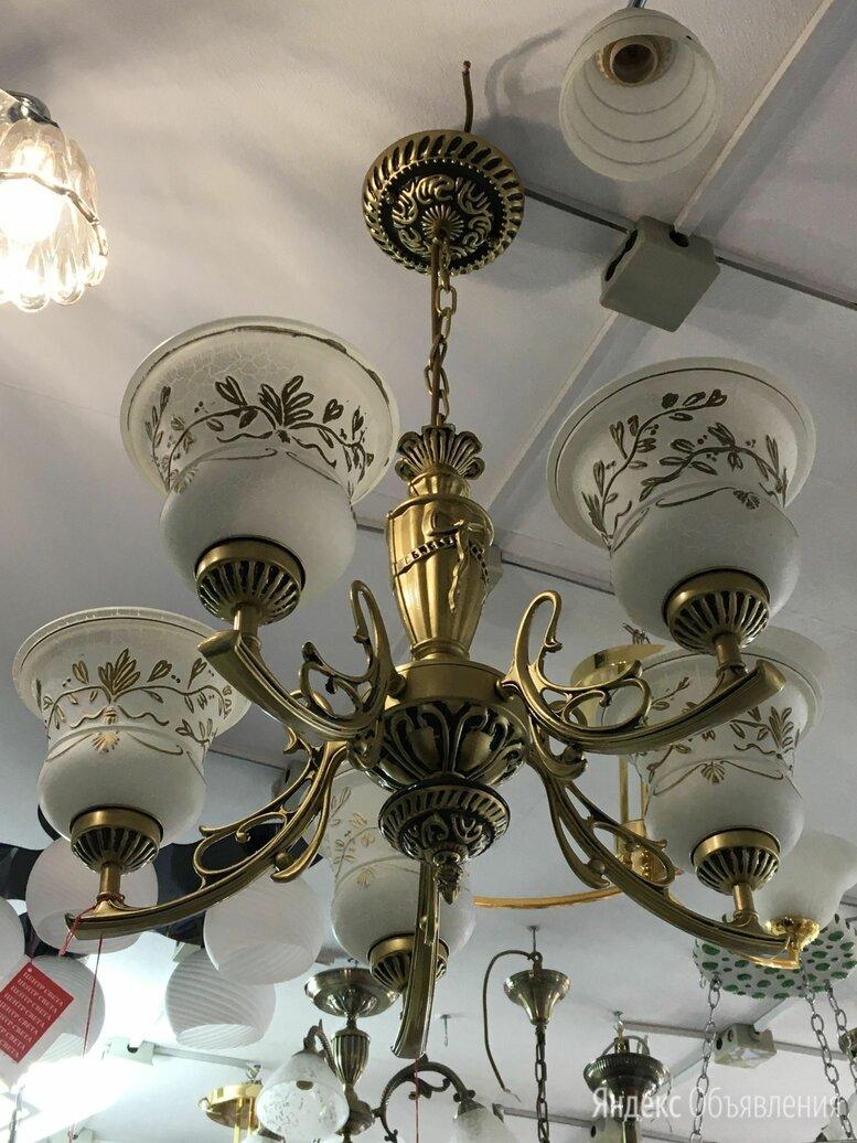 Люстра подвесная бронза по цене 6500₽ - Люстры и потолочные светильники, фото 0