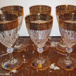 Бокалы и стаканы - Бокалы для вина хрусталь в золоте Италия RCR Gala, 0
