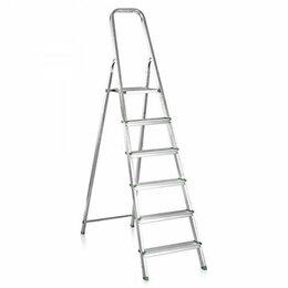Лестницы и стремянки - Стремянка алюминиевая 6 ступеней, 0