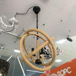 Люстры и потолочные светильники - Люстра из каната в стиле лофт, 0