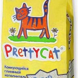 Наполнители для туалетов - PRETTYCAT наполнитель комкующийся для кошачьих туалетов Супер белый 10 кг , 0