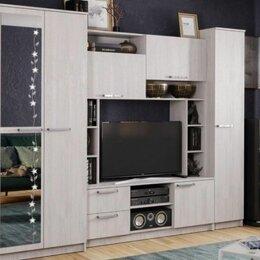Шкафы, стенки, гарнитуры - Гостиная Флора, Ясень белый, 0