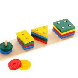 Игровые наборы и фигурки - Пирамидка логическая Фигуры, 0