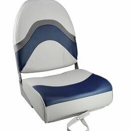 Походная мебель - Кресло складное мягкое PREMIUM WAVE, цвет серый/синий, 0