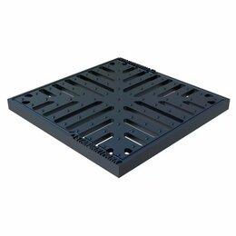 Решетки - Решетка водоприемная Basic РВ-28.28 снежинка чугунная ВЧ, кл. С 3334, 0