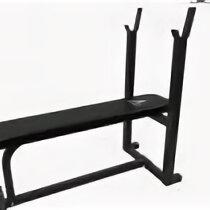 Скамьи и стойки - Силовая скамья со стойками DFC Homegym D306, 0