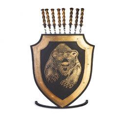 Шампуры - Щит шампурница Стальные Решения Медведь с лапами, 0