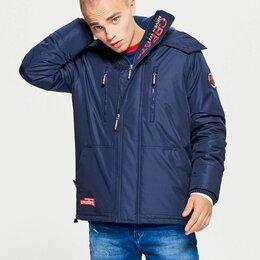 Куртки - Мужская демисезонная куртка с капюшоном утеплённая, 0