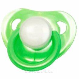 Пустышки и аксессуары - Пустышка Mepsi латекс круглая с 0 мес, зеленый, 0