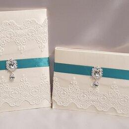 Обложки для документов - Комплект папка свидетельства о браке и книга пожеланий., 0