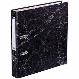 Сопутствующие товары - Папка-регистратор OfficeSpace А4 50мм, мрамор, черный AFm50_135/153194, 0